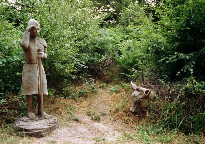 Broxbourne Wood - Shepherd Carving