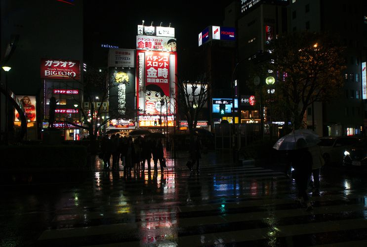 Kamata Night Time Rain 01