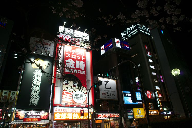 Kamata Night Time Signs