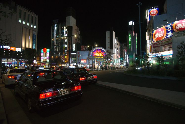 Kamata Taxis At Night