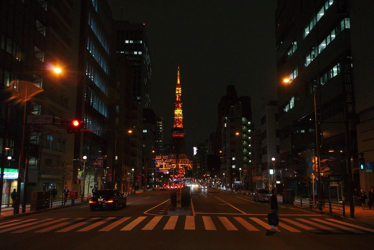 Minato City With Tokyo Tower 03