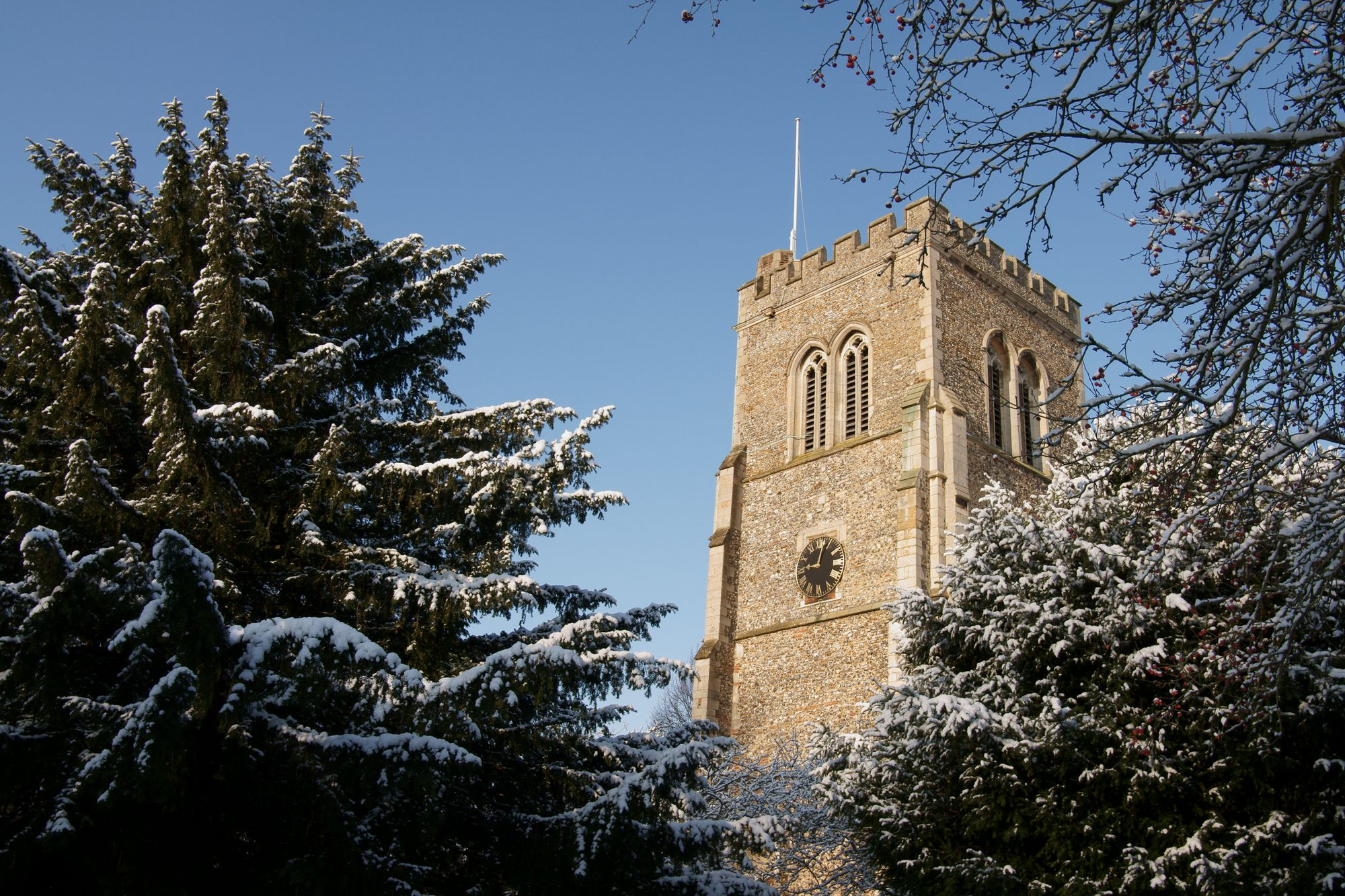 St Etheldreda In The Snow 2